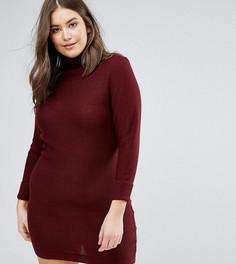 Платье-джемпер с воротником поло Brave Soul Plus - Красный