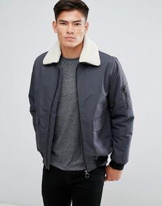 Куртка с отстегиваемым воротником из искусственного меха D Struct - Серый