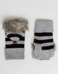 Перчатки в полоску Alice Hannah - Серый