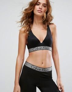 Эластичный бюстгальтер пуш‑ап с глубоким вырезом Calvin Klein Customized - Черный