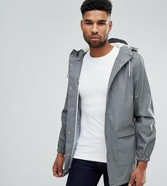 Водонепроницаемая куртка средней длины с капюшоном D-Struct TALL - Серый