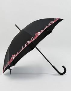 Зонт Fulton Kensington 2 London Pride - Черный