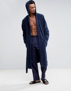 Махровый халат Calvin Klein - Темно-синий