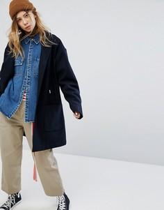 Пальто с добавлением шерсти Carhartt WIP - Темно-синий