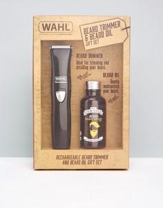 Подарочный набор с электрическим триммером и маслом для бороды Wahl - Мульти