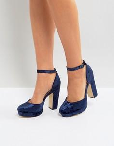 4e5ba437f Купить женские туфли на платформе или танкетке бархатные в интернет ...