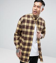 Оверсайз-рубашка с рваной отделкой Sixth June - Зеленый