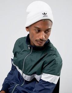 Белая шапка-бини с логотипом-трилистником adidas Originals BR2618 - Белый