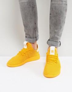 Желтые кроссовки adidas Originals x Pharrell Williams Tennis HU CP9767 - Желтый