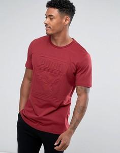 Красная футболка с тисненым логотипом Puma Archive 57450709 - Красный