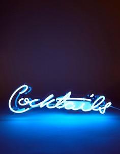 Неоновый светильник с дизайном Cocktails Talking Tables - Мульти