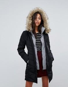 Пальто с воротником-трубой Esprit - Черный