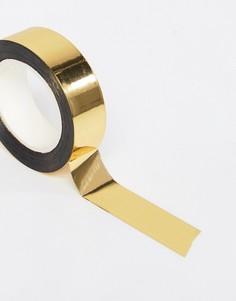 Золотистая клейкая лента для упаковки подарков Meri Meri - Мульти