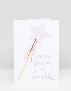 Новогодняя открытка с волшебной палочкой со звездой Meri Meri - Мульти