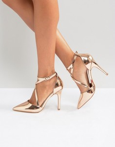 Туфли на высоком каблуке с острым носом Miss KG - Медный