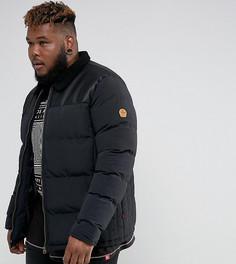 Черная дутая куртка с воротником из полиуретана и искусственного меха Duke PLUS - Черный