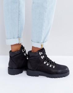 Кожаные походные ботинки черного цвета Vagabond Kenova - Черный