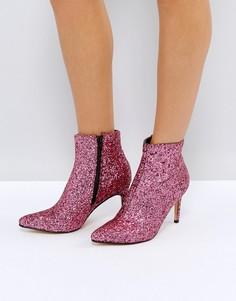 Ботинки на каблуке с острым носком Truffle Collection - Розовый