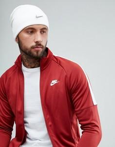 Белая шапка-бини с металлическим логотипом Nike 803734-100 - Белый