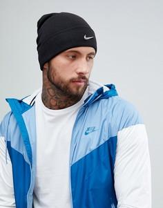Черная шапка-бини с металлическим логотипом Nike 803734-010 - Черный