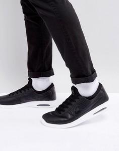 Черные кожаные кроссовки Nike SB Bruin Max Vapor 923111-001 - Черный