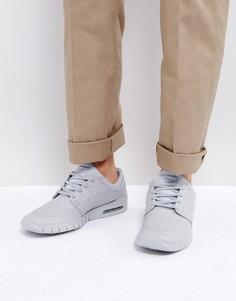 Серые кожаные кроссовки Nike SB Bruin Max Vapor 923111-006 - Серый