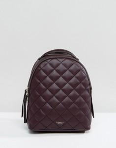 Стеганный мини-рюкзак баклажанного цвета Fiorelli - Фиолетовый