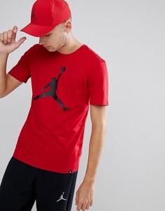 Красная футболка с большим логотипом Nike Jordan 908017-687 - Красный