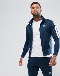 Темно-синяя спортивная куртка Nike Tribute 861648-454 - Темно-синий