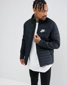 Черная дутая куртка Nike AV15 861785-010 - Черный