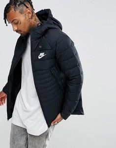 Черная дутая куртка с капюшоном Nike AV15 861782-010 - Черный
