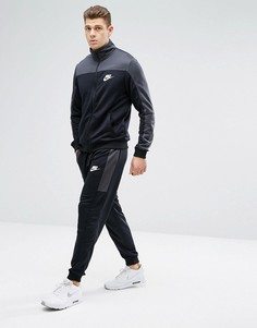 Серый трикотажный спортивный костюм в стиле ретро Nike 861774-060 - Серый