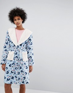Пушистый халат Коала Chelsea Peers - Серый