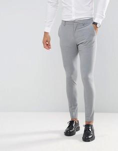 Супероблегающие эластичные брюки Selected Homme Wedding - Серый