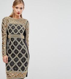 Платье миди с декоративной отделкой A Star Is Born - Черный