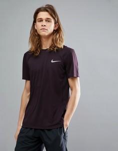 Фиолетовая футболка Nike Running Miler 833591-652 - Красный
