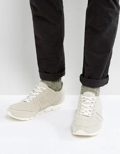 Бежевые кроссовки в стиле ретро из искусственной замши ASOS - Белый