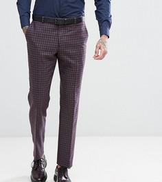 Узкие твидовые брюки в клетку Heart & Dagger - Серый