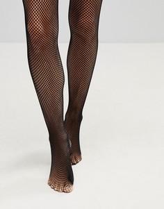 Нейлоновые сетчатые колготки Leg Avenue - Черный