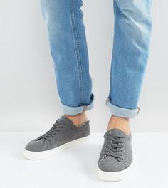 Серые меланжевые кроссовки для широкой стопы на шнуровке ASOS - Серый