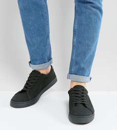 Замшевые кроссовки для широкой стопы ASOS - Зеленый