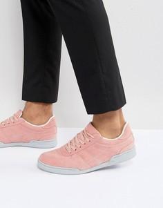 Розовые кроссовки из искусственной замши с серой подошвой ASOS - Розовый