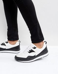 Черно-белые кроссовки ASOS - Белый