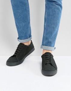 Замшевые кроссовки на шнуровке цвета хаки ASOS - Зеленый