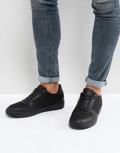 Черные кроссовки из нейлона и кожзаменителя ASOS - Черный