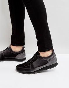 Серые бархатные кроссовки ASOS - Серый