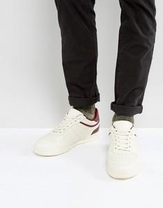 Бежевые кроссовки с бордовой отделкой ASOS - Белый