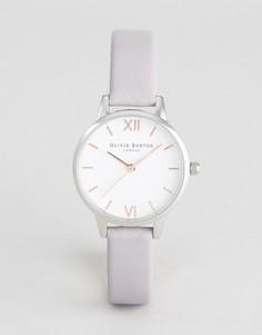 Серо-сиреневые часы со средним циферблатом и кожаным ремешком Olivia Burton OB16MDW26 - Серый