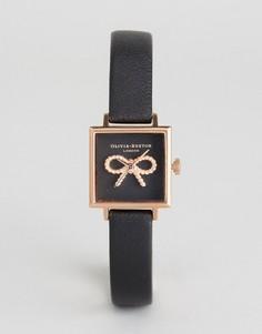 Часы с черным кожаным ремешком Olivia Burton OB16VB03 - Черный