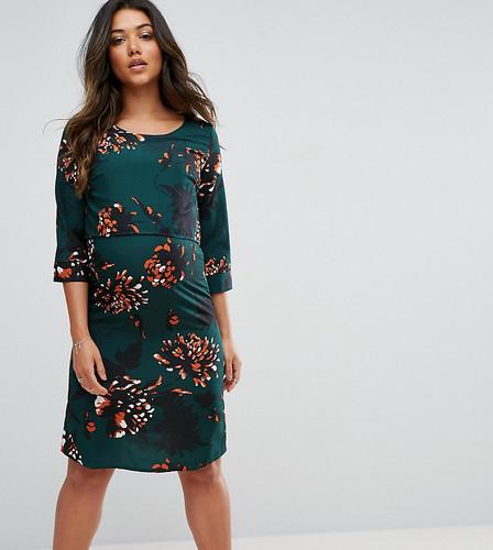 Цельнокройное платье с цветочным принтом Mamalicious - Мульти